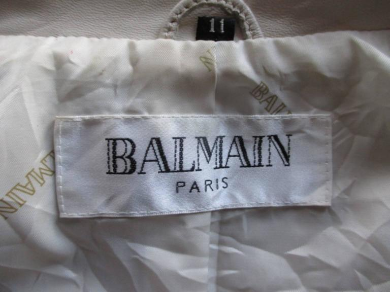 Balmain Paris soft leather jacket In Good Condition For Sale In Amsterdam, NL