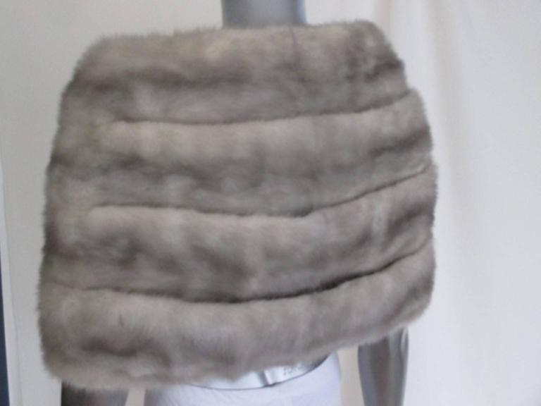 "Women's or Men's sapphire mink fur stole from ""max reby"" For Sale"