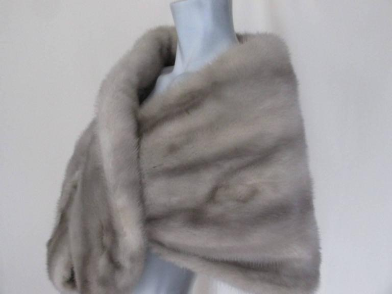 "sapphire mink fur stole from ""max reby"" For Sale 1"