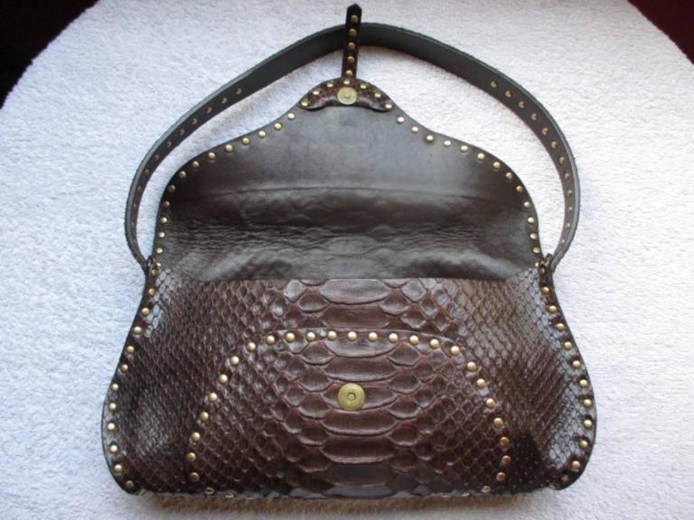 Black Celine little brown leather shoulderbag For Sale
