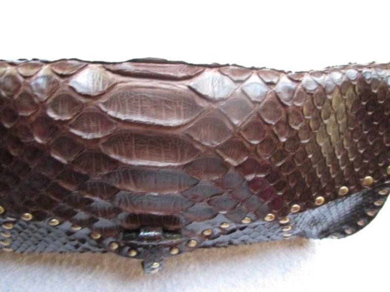 Celine little brown leather shoulderbag For Sale 5