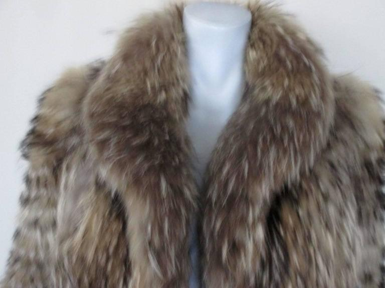 This Is A Gorgeous Genuine Natural Finn Raccoon Fur Coat (also Known As  Asiatic Raccoon