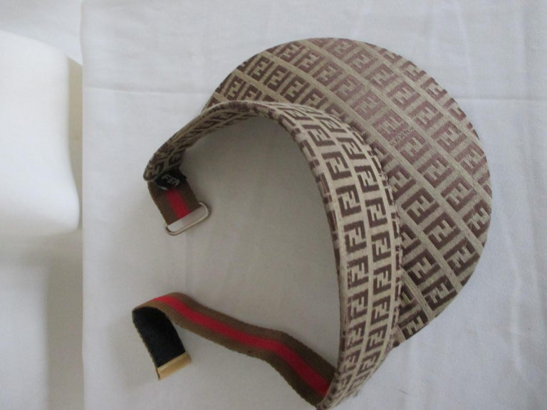 Women's or Men's Fendi monogram sun visor hat For Sale