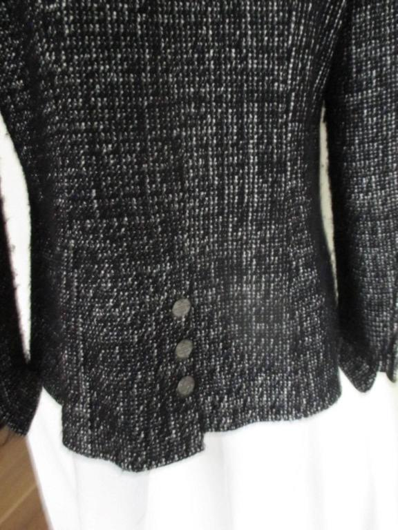 chanel 02 black and white wool blend tweed blazer 3