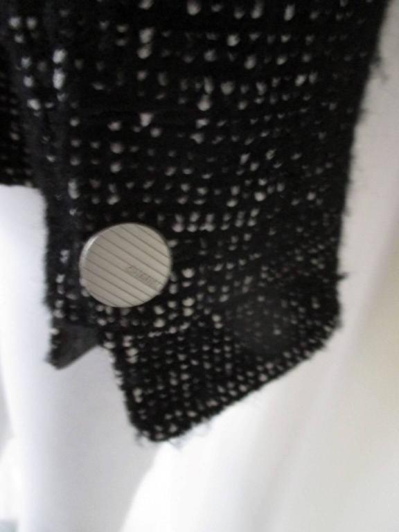 chanel 02 black and white wool blend tweed blazer 4