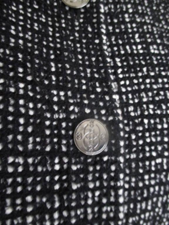 chanel 02 black and white wool blend tweed blazer 9