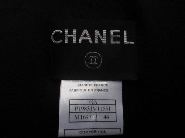 chanel 02 black and white wool blend tweed blazer 5