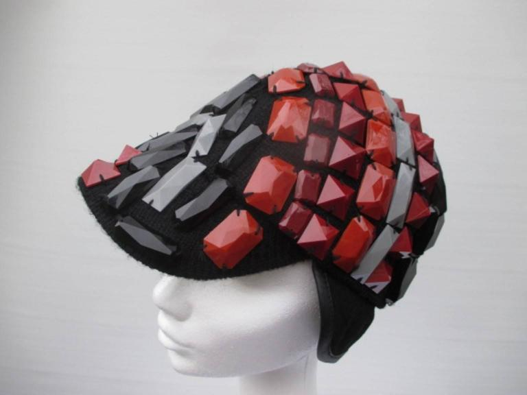 multi colored studs hat For Sale 2