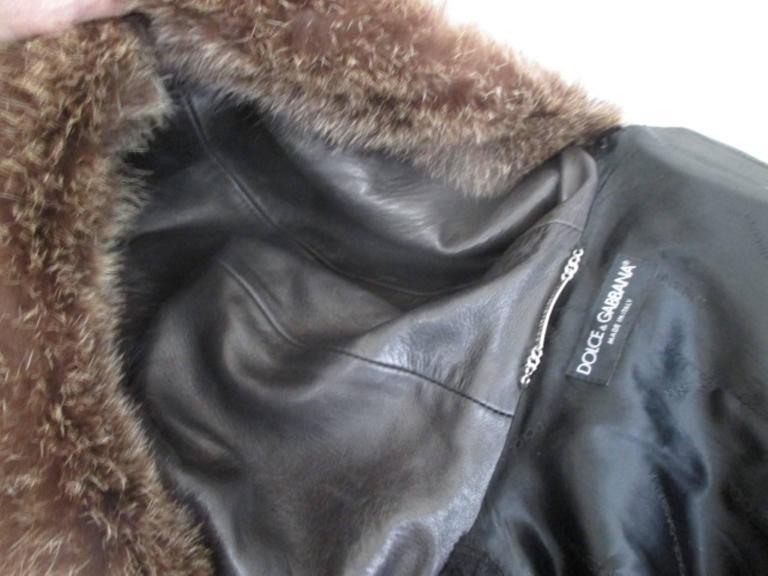 Dolce & Gabbana Hooded Black Pony Fur Coat For Sale 2