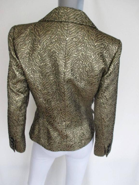Women's or Men's Yves Saint Laurent Gold Metallic Jacket For Sale