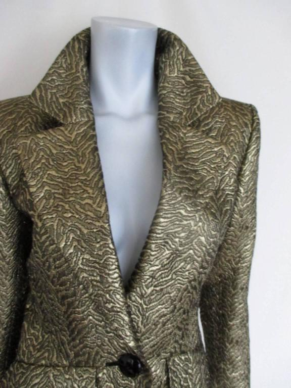 Yves Saint Laurent Gold Metallic Jacket For Sale 3