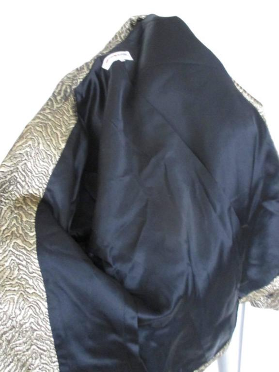 Yves Saint Laurent Gold Metallic Jacket For Sale 4