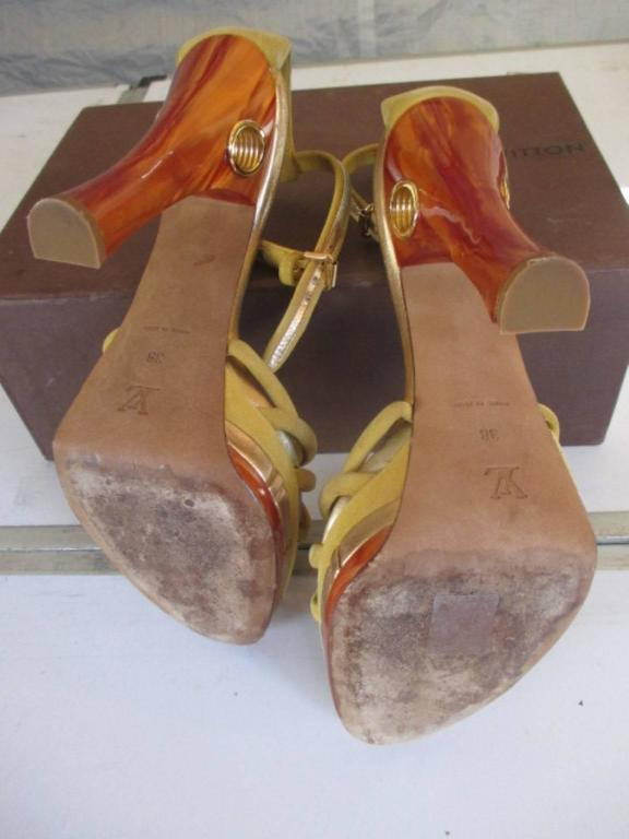 louis vuitton collection cleo pompeii high heels In Good Condition For Sale In Amsterdam, NL