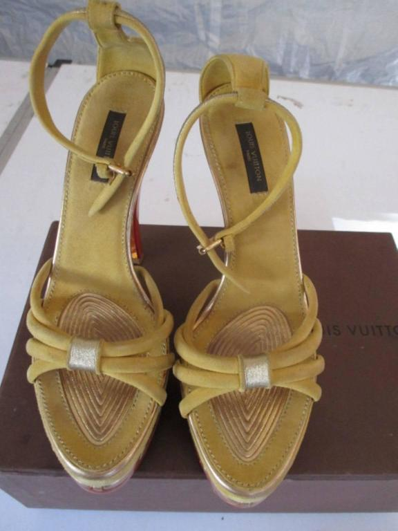 Women's or Men's louis vuitton collection cleo pompeii high heels For Sale