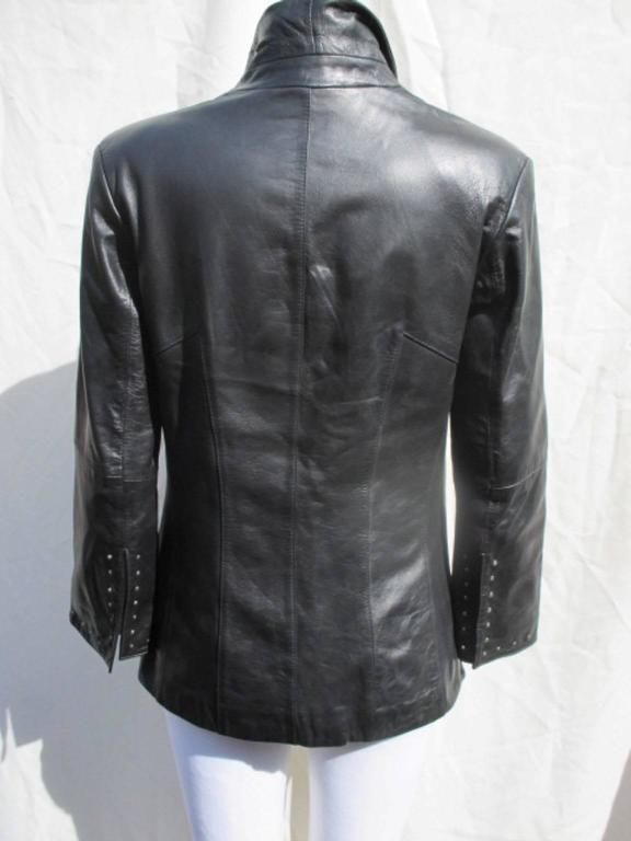 pierre cardin black leather jacket 3