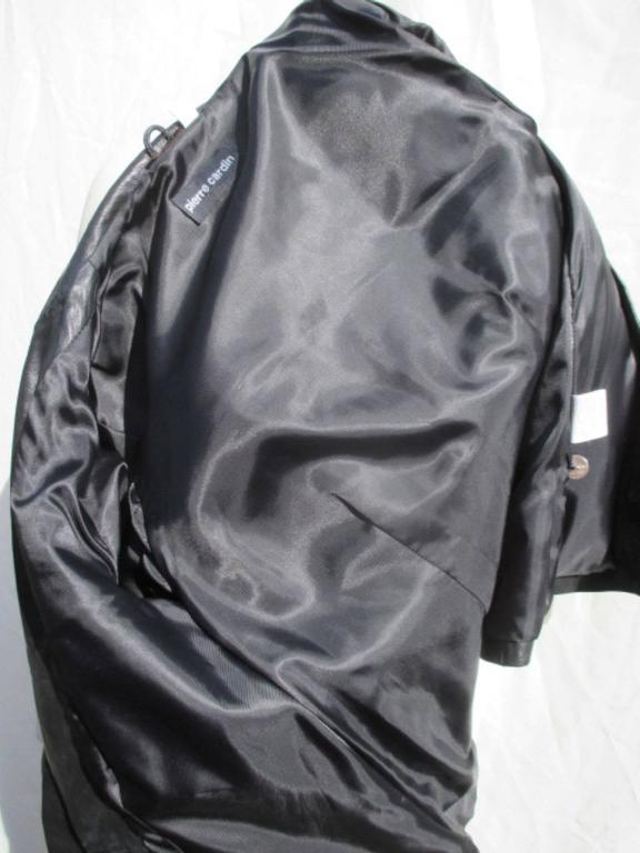 pierre cardin black leather jacket 7