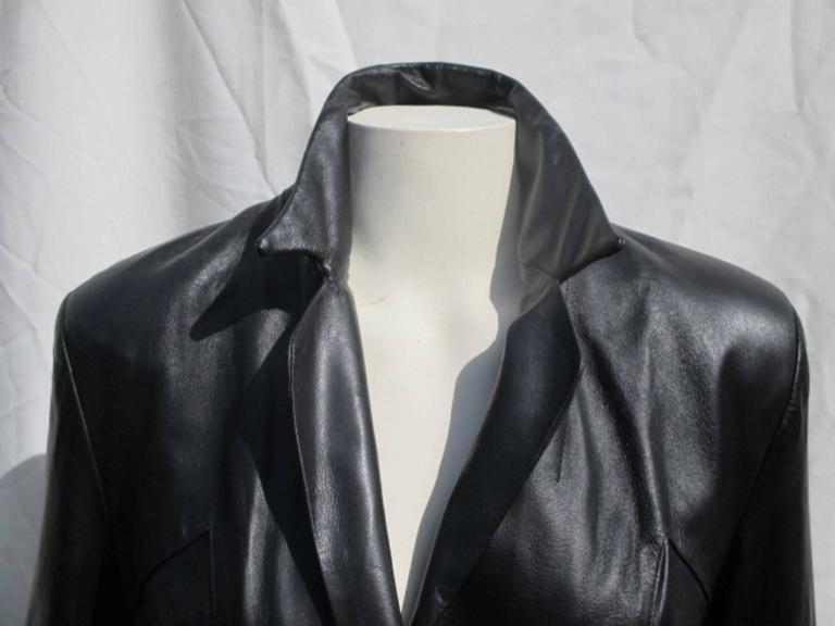 pierre cardin black leather jacket 5