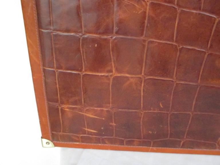 beautiful brown leather briefcase For Sale 4