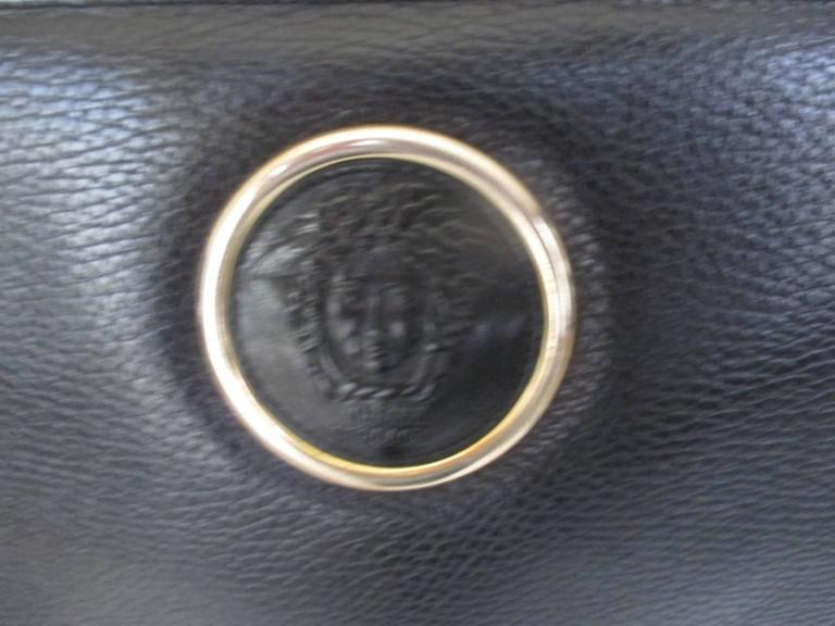gianni versace black leather medusa bag For Sale 2