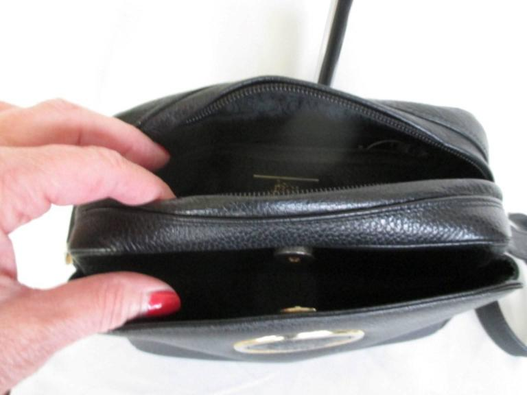 gianni versace black leather medusa bag 9