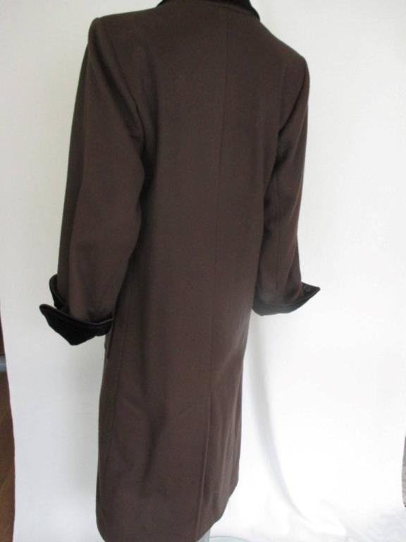yves saint laurent double breasted wool coat 4