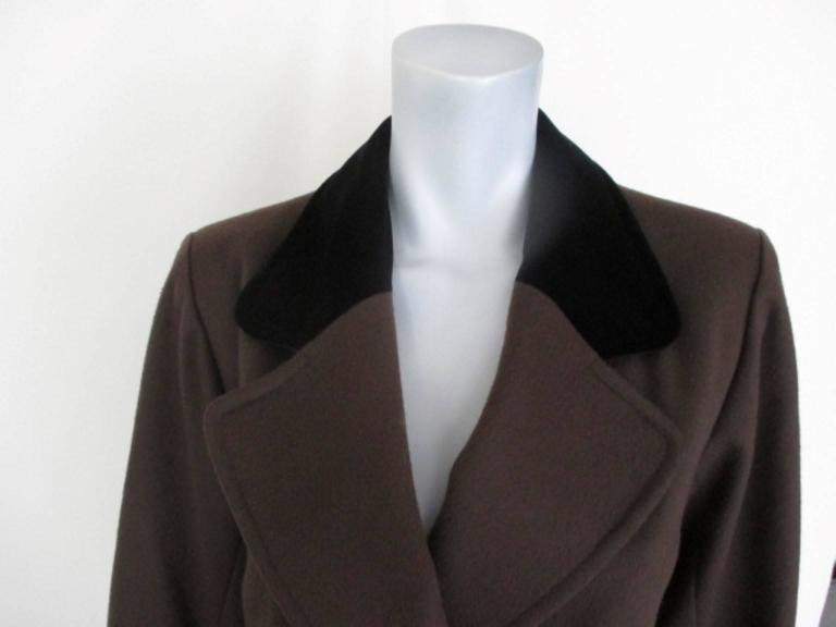 yves saint laurent double breasted wool coat 2