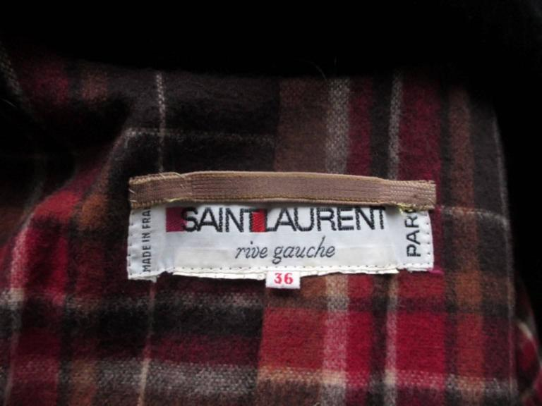 yves saint laurent double breasted wool coat 3