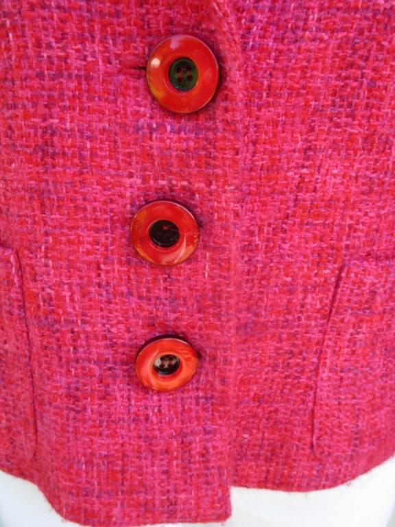 pierre balmain paris red/rose light wool jacket 2