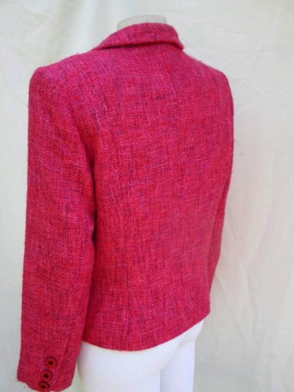 pierre balmain paris red/rose light wool jacket 4