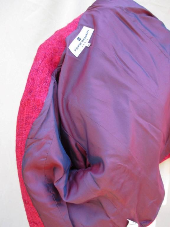 pierre balmain paris red/rose light wool jacket 5