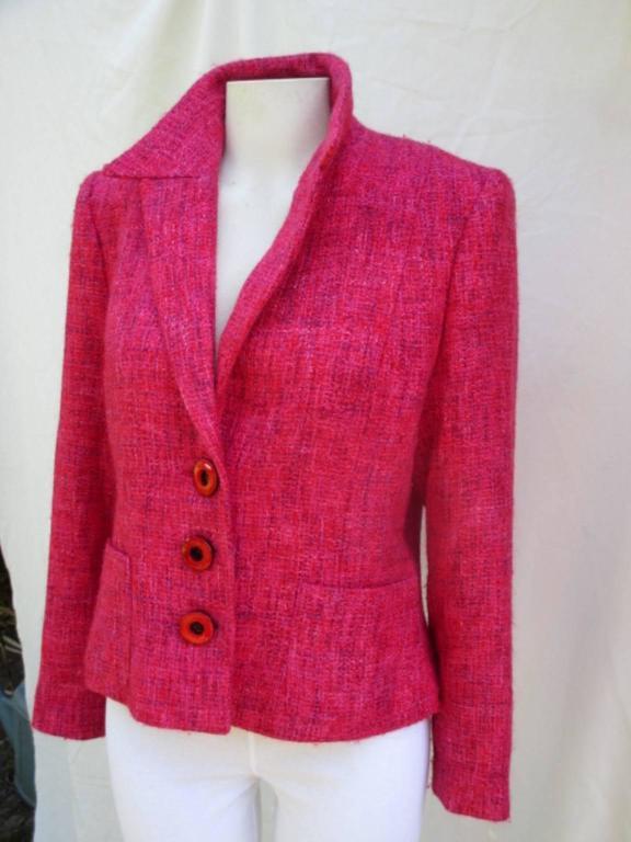 pierre balmain paris red/rose light wool jacket 7