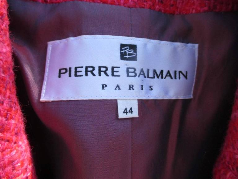 pierre balmain paris red/rose light wool jacket 3