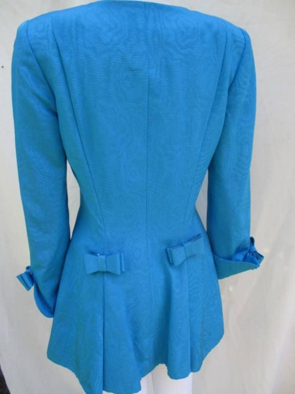 Women's or Men's nina ricci paris turquoise jacket with skirt For Sale