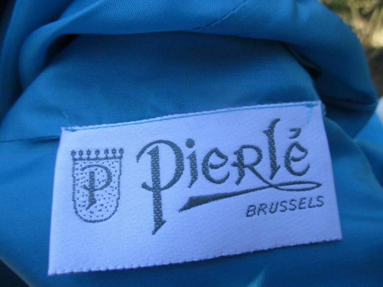 nina ricci paris turquoise jacket with skirt For Sale 3