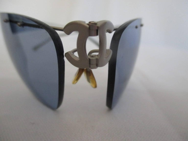 authentic titanium foldable chanel sunglasses 3