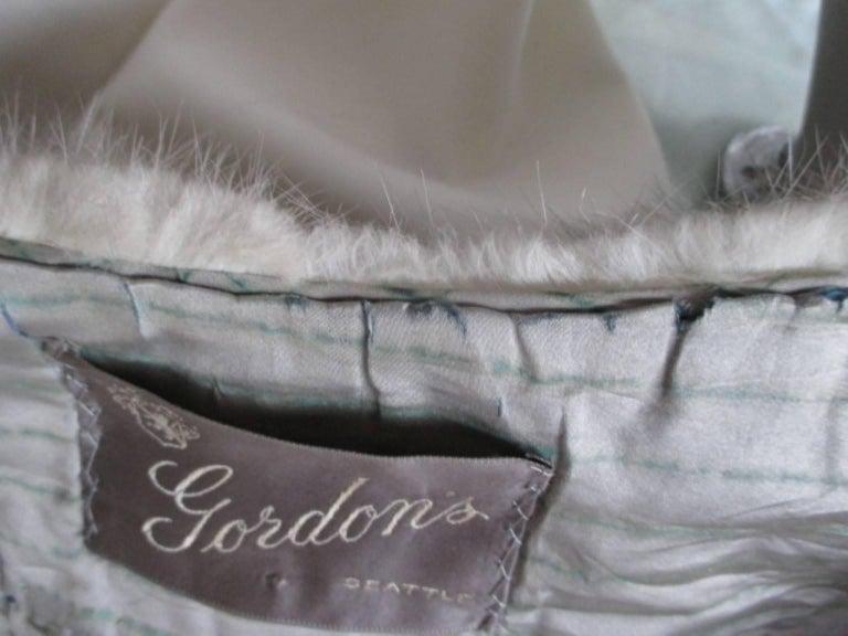 Gray vintage grey mink fur stole For Sale
