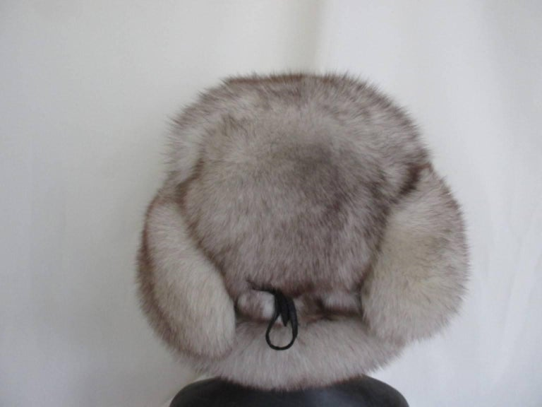 arctic fox fur trapper hat For Sale 1