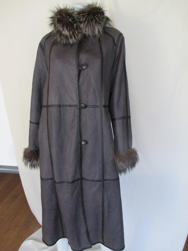 Reversible Light Weight Broadtail Lamb Long Fur Coat With