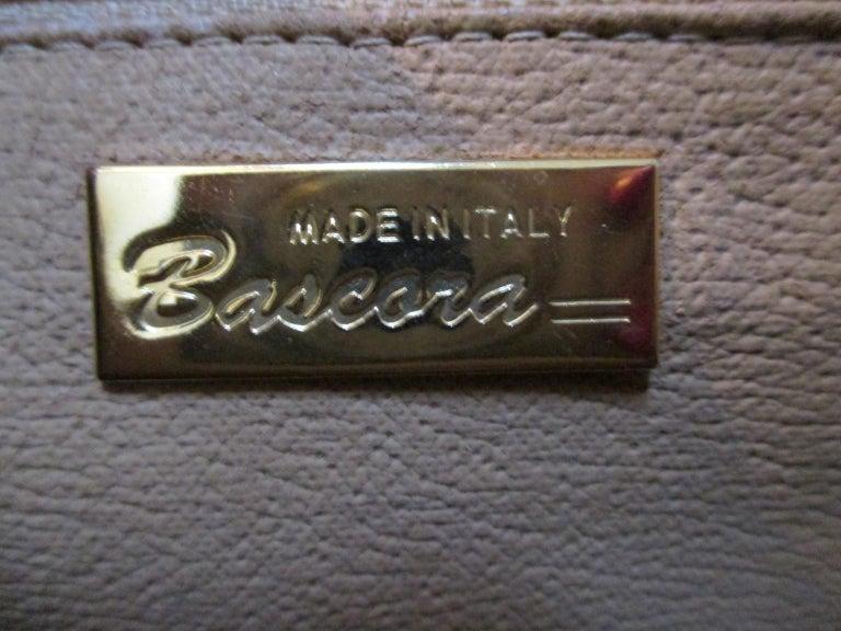 Vintage Brown Ostrich Leather Bag  For Sale 2