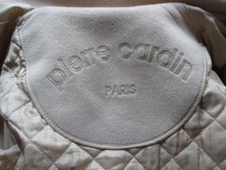 Pierre Cardin creme color wool coat  2