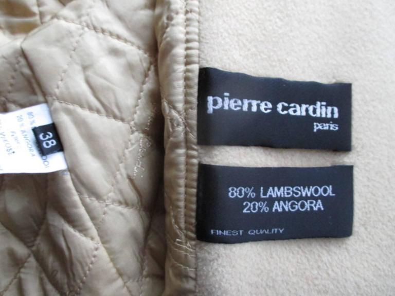 Pierre Cardin creme color wool coat  3