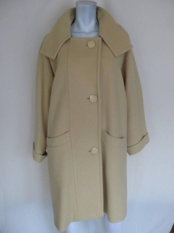 Pierre Cardin creme color wool coat  4