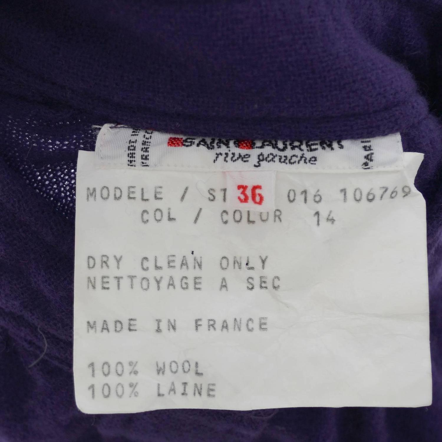 Ysl Purple Peasant Blouse 63