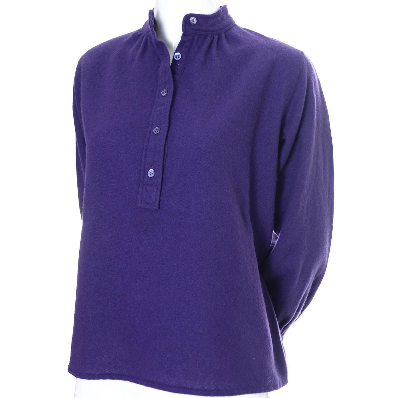 Ysl Purple Peasant Blouse 57