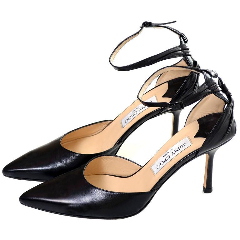 Sandales Pour Les Femmes En Vente, Noir, Cuir, 2017, 4 7.5 Choo Londres Jimmy