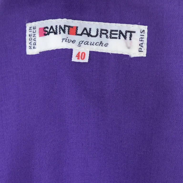 Vintage YSL Blazer Purple Yves Saint Laurent Size 40 Rive Gauche 4