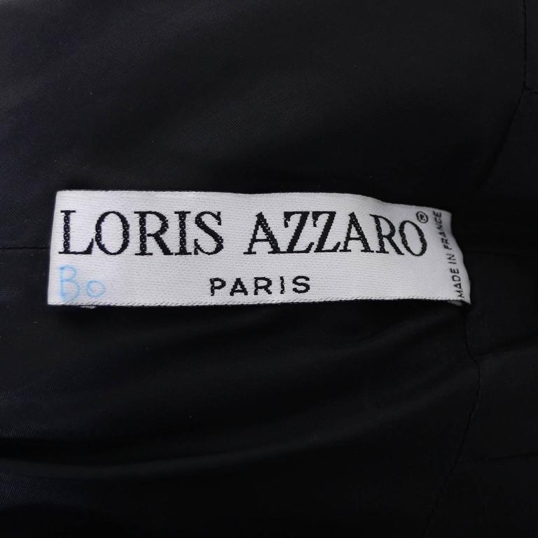Loris Azzaro Vintage Dress 1980s Avant Garde Sequins Statement Evening Gown 8