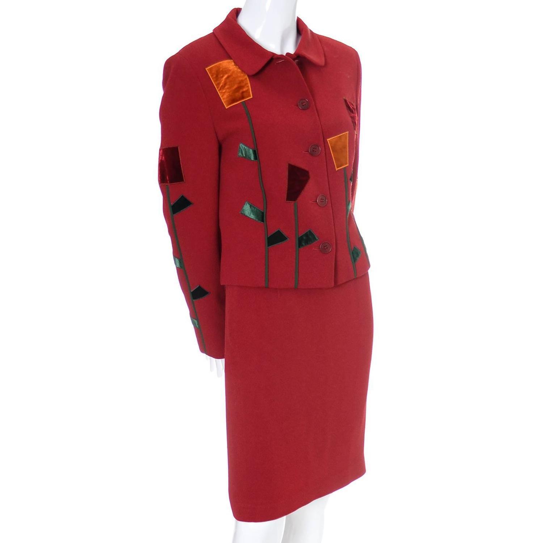 Velvet Skirt Suit 35