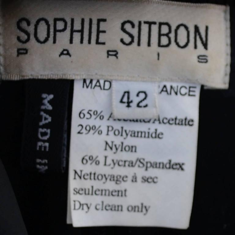 Sophie Sitbon Paris Vintage Dress Avant Garde Shawl Collar Size 42 France 6
