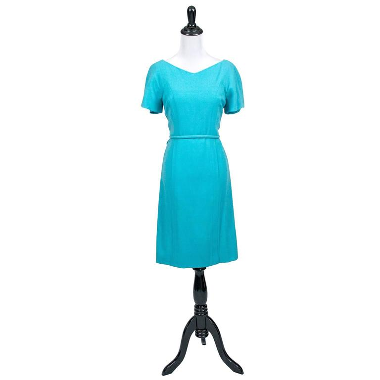 Pauline Trigere Blue Vintage Dress John Doyle Bishop Seattle 1960s 2